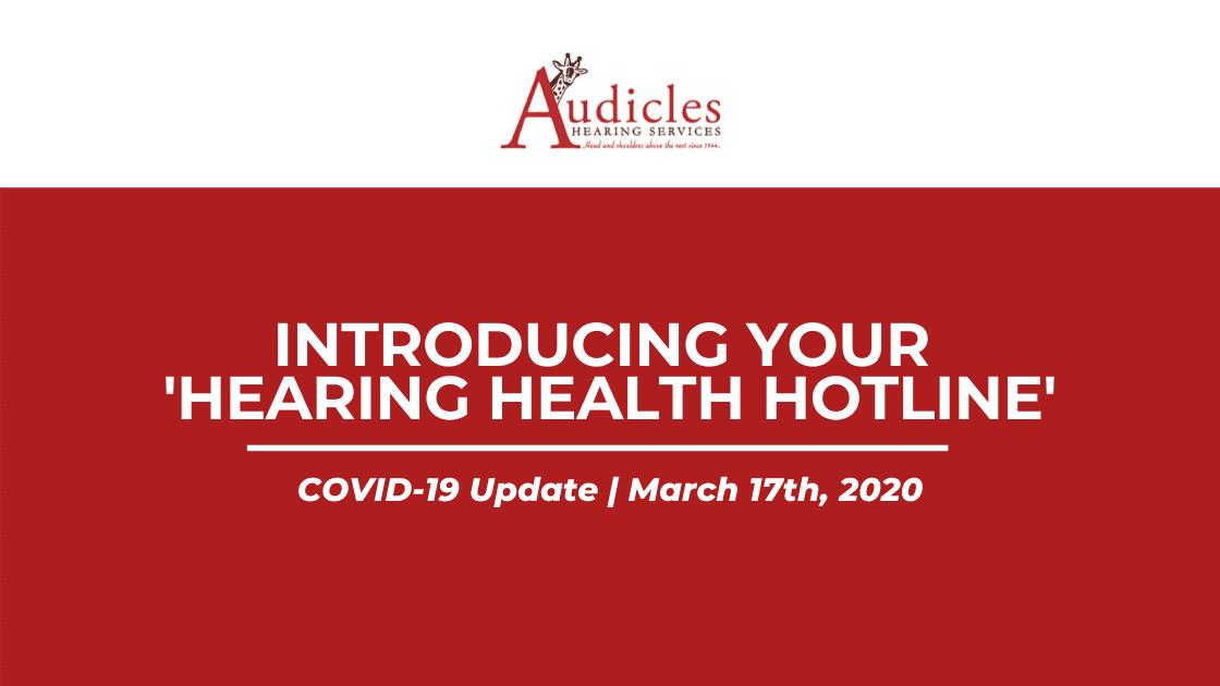 COVID-19 Audicles (Hotline)